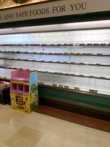 スーパーマーケット棚空